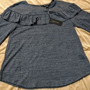 Cable and Gauge Blue Blouse NWT Size Large